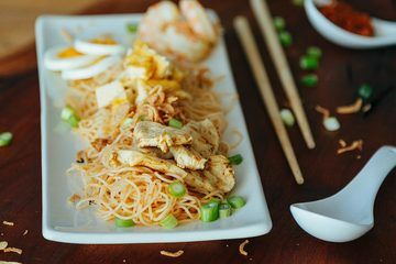 Rezept Frühstücken wie in Singapur oder Malaysia - Gebratene Nudeln Siam Art (Dry Fried Mee Siam)