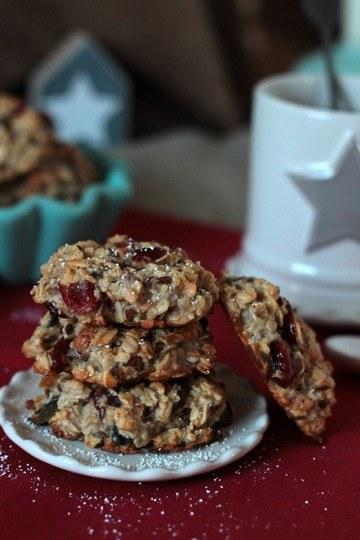 Rezept Frühstücks-Kekse mit Cranberrys und Kürbiskernen