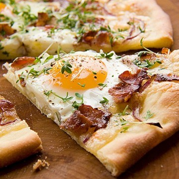 Rezept Frühstücks-Pizza