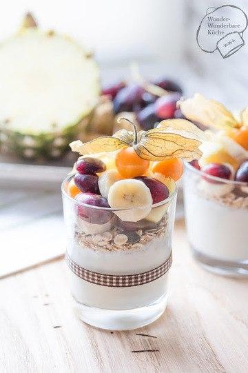 Rezept Frühstücksjoghurt mit Obst