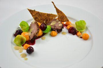 Rezept Gans - Süßkartoffel - Cranberry - kleine Nussecken