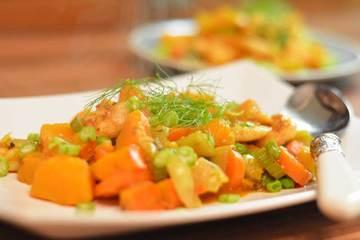 Rezept Garnelen-Kürbis-Curry