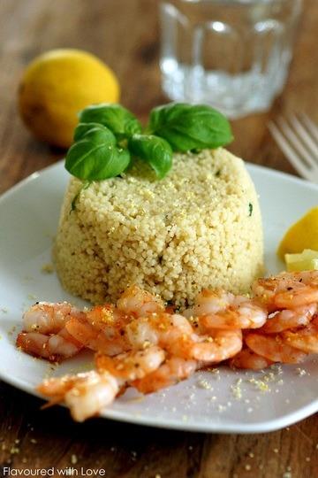 Rezept Garnelenspieß mit Zitronencouscous
