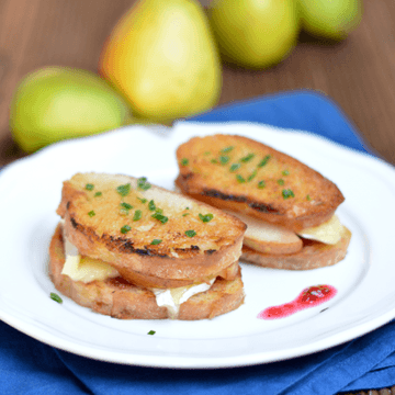 Rezept Gebackene Birne-Käse-Sandwiches