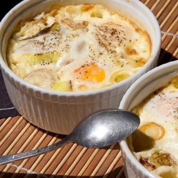 Rezept Gebackene Eier mit Lauch
