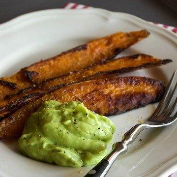 Rezept Gebackene Süßkartoffel mit Avocado-Zitrus-Creme