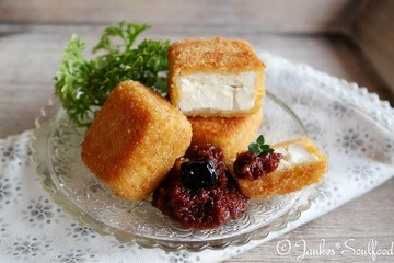 Rezept Gebackener Feta mit Kirschpesto