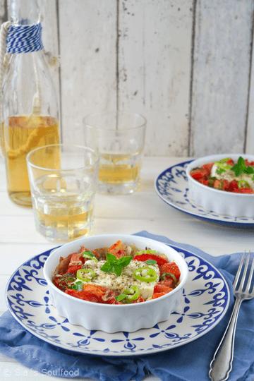 Rezept Gebackener Feta mit Tomaten {Bougourdi}