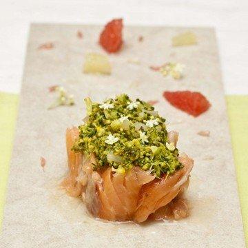 Rezept Gebeizter Lachs mit Holunderblüte