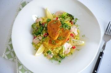 Rezept Gebratene Hähnchenbrust auf Bulgursalat