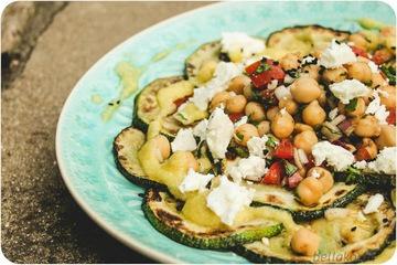 Rezept Gebratene Zucchini mit Kichererbsen