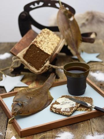 Rezept Gebratener Bakskuld auf Roggenbrot