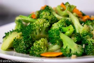 Rezept 蒜蓉西兰花-Gebratener Brokkoli mit Knoblauch