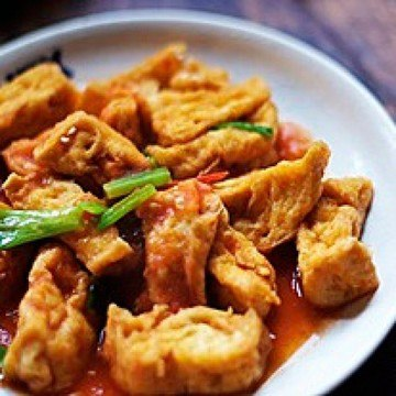 Rezept Gebratener Tofu in Tomatensauce