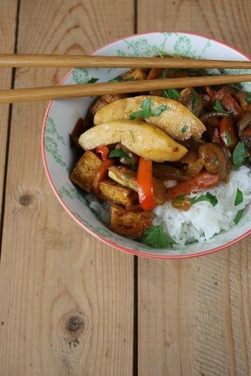 Rezept Gebratenes Gemüse mit Tofu und Quitten