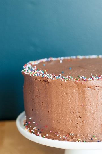 Rezept Geburtstagskuchen mit Schokoladenbuttercreme