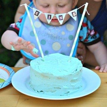 Rezept Geburtstagstorte für den 1. Geburtstag haushaltszuckerfrei
