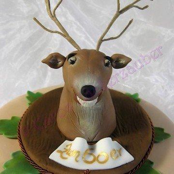 Rezept Geburtstagstorte mit Hirsch aus Zucker