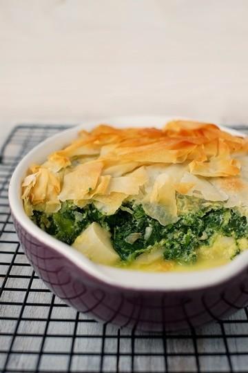 Rezept Gedeckte Spinat-Spargel-Quiche