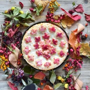 Rezept Gedeckter Apfelkuchen mit Holunder