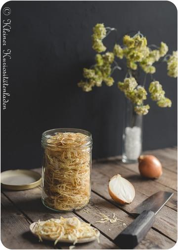 Rezept Gedörrte Zwiebeln und Knoblauch