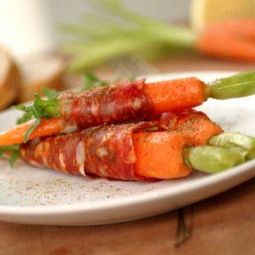 Rezept Gefesselte Karotten mit Rucola