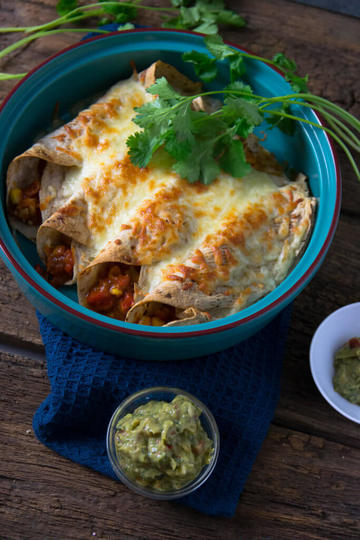 Rezept Geflügel Burritos mit Guacamole