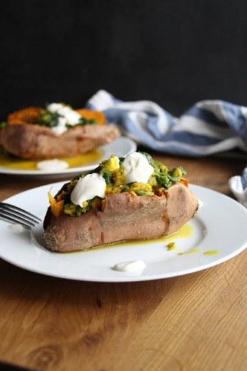 Rezept Gefüllte Süßkartoffel