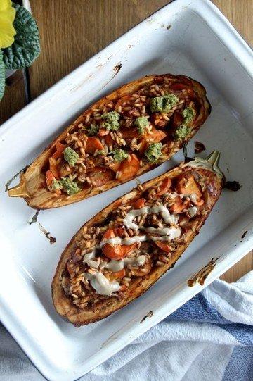 Rezept Gefüllte und marnierte Auberginen