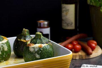 Rezept Gefüllte Zucchini mit Cabanossi