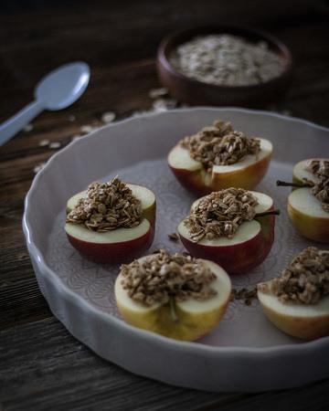 Rezept Gefüllter Bratapfel mit Haferflocken