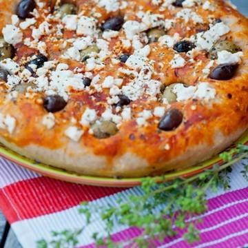 Rezept Gefülltes Pizzabrot mit Sauerteig