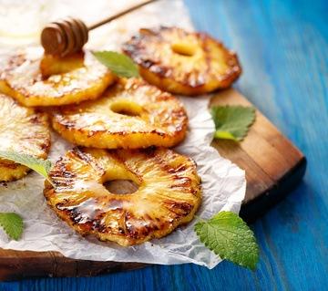 Rezept Gegrillte Ananasscheiben mit Honig