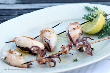 Rezept Gegrillte Calamari mit Feta