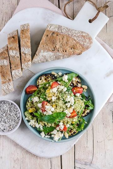 Rezept Gegrillte Zucchini mit buntem Couscous Salat