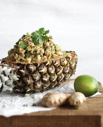 Rezept Gegrillter Ananas & Curry Quinoa Salat
