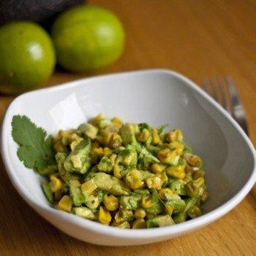 Rezept Gegrillter Mais und Avocado Salat