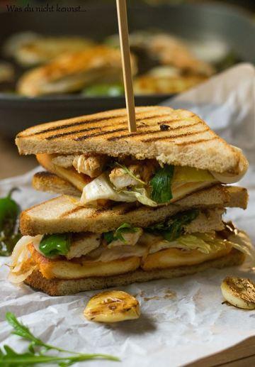 Rezept Gegrilltes Sandwich mit Hähnchenbrust