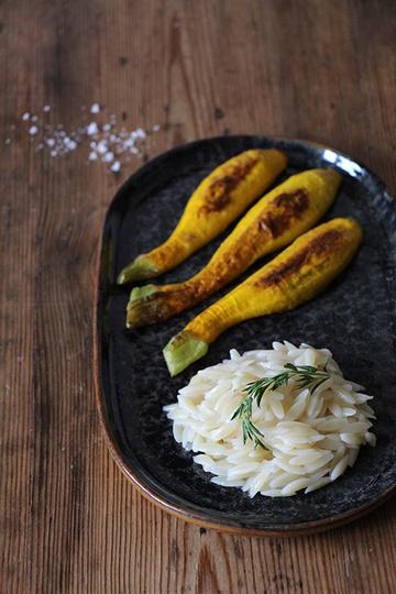 Rezept Gelbe Zucchini mit Kritharaki