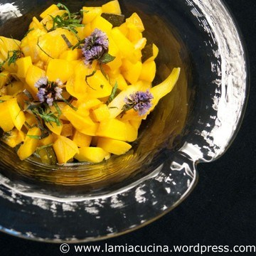 Rezept Gelbes Zucchinigemüse, süss-sauer