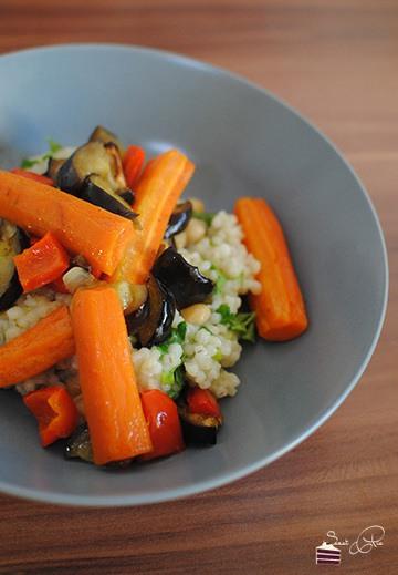 Rezept Gemüse-Pilaf mit Kreuzkümmeldressing