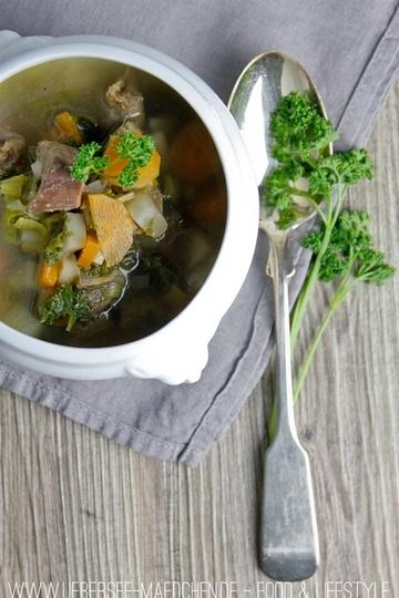 Rezept Gemüse-Suppe mit Suppenfleisch