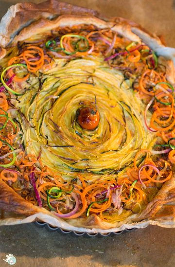 Rezept Gemüse-Twist-Kuchen
