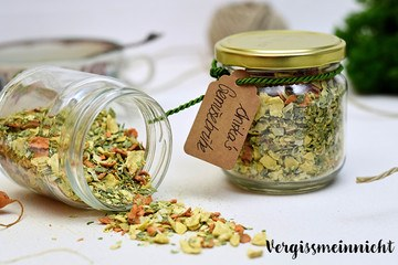Rezept Gemüsebrühe – zu Instant gedörrt