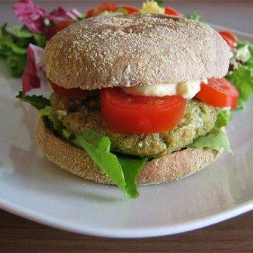Rezept Gemüseburger mit frischem Salat