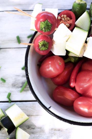Rezept Gemüsespieße mit Halloumi