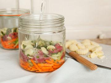 Rezept Gemüsesuppe mir Rinderfilet und Gnocchi