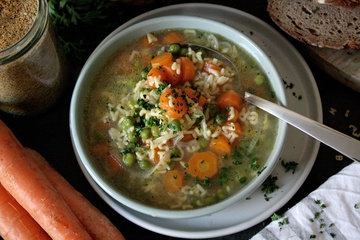 Rezept Gemüsesuppe mit selbstgemachter Bouillon