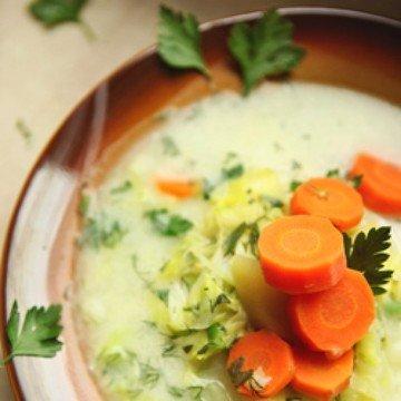 Rezept Gemüsesuppe von jungem Kohl