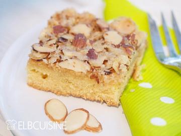 Rezept Genialer Blitz-Familien-Kuchen mit zarten Mandelblättchen und amerikanischem Einfluss